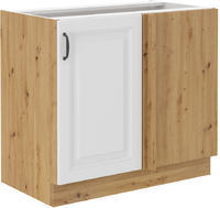 Spodní skříňka rohová 105 STILO bílá/dub artisan