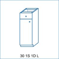 Dolní skříňka 30 1S/1D AGÁTA