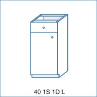 Dolní skříňka 40 1S/1D AGÁTA