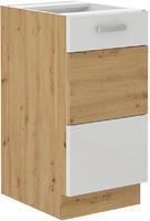 Spodní skříňka 40 1F ARTISAN bílý lesk / dub artisan