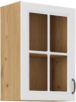 Horní skříňka prosklená 40 1F STILO bílá/dub artisan