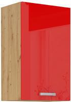Horní skříňka 45 G 1F ARTISAN ČERVENÝ lesk / dub artisan