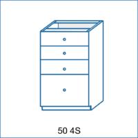 Dolní skříňka 50 4S AGÁTA