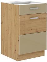 Spodní skříňka 50 1F 1S ARTISAN CAPPUCCINO lesk / dub artisan