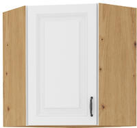 Horní skříňka rohová 58x58 STILO bílá/dub artisan