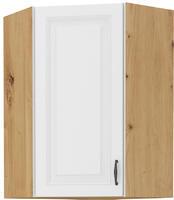 Horní skříňka rohová 58x58 90 STILO bílá/dub artisan