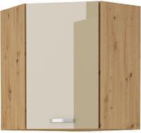 Horní skříňka rohová 58x58 ARTISAN CAPPUCCINO lesk / dub artisan