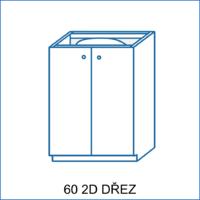 Dolní skříňka 60 2D dřez LENA