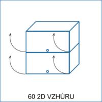 Horní skříňka 60 2D vzhůru REMI