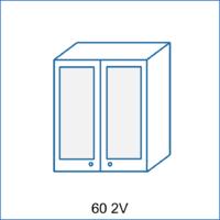 Horní skříňka 60 vitrína 2D AGÁTA