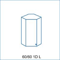 Horní rohová skříňka 60/60 1D REMI