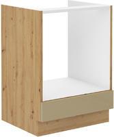 Skříňka na sporák 60 ARTISAN CAPPUCCINO lesk / dub artisan