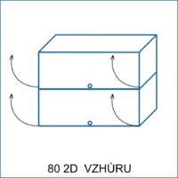 Horní skříňka 80 vitrína 2D vzhůru AGÁTA