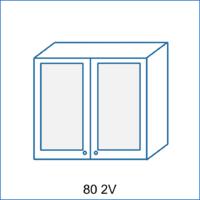 Horní skříňka 80 vitrína 2D REMI