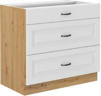 Spodní skříňka 80 3F PREMIUM STILO bílá/dub artisan