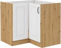 Spodní skříňka rohová 89X89 STILO bílá/dub artisan