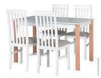 Jídelní sestava, stůl ALBA 1 a židle NILO 1