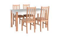 Jídelní sestava, stůl ALBA 2 a židle BOSS 10