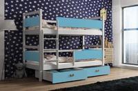 Dětská patrová postel ŠMOULA bílá