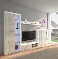 Obývací stěna RUMBA, beton jasný