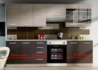 Kuchyňská sestava CHAMONIX 180+60 cm - BEZ DESKY