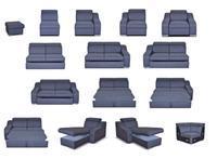 Moduly DEIMOS k sestavení sedací soupravy - látky cenové skupiny III