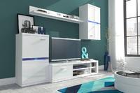 Obývací stěna INTEL, bílý lesk