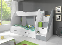 Dětská patrová postel MARTÍNEK, šedá/bílá