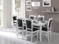 Jídelní sestava, stůl S3 a židle K3, bílá