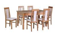 Jídelní sestava, stůl MODENA 1 a židle NILO 2