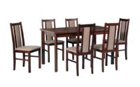 Jídelní sestava, stůl MODENA 1 P a židle BOSS 14