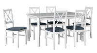 Jídelní sestava, stůl MODENA 1 P a židle NILO 10