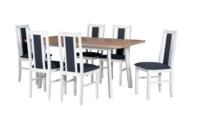 Jídelní sestava, stůl OSLO 10 a židle BOSS 14