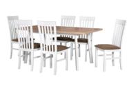 Jídelní sestava, stůl OSLO 10 a židle MILANO 2
