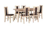 Jídelní sestava, stůl OSLO 5 a židle BOSS 14