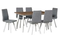 Jídelní sestava, stůl OSLO 5 a židle HUGO 2