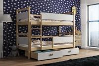 Dětská patrová postel ŠMOULA přírodní