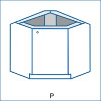 Dolní rohová skříňka zkosená REMI