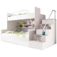 Patrová postel RAJ 2, bílá/bílý lesk