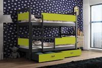 Dětská patrová postel ŠMOULA šedá