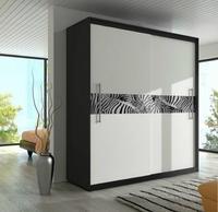 Skříň šatní TORINO, černobílá