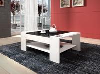 Konferenční stolek TWISTER-bílá/černý lesk