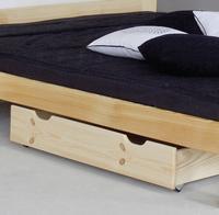 Šuplík pod postel - úložný 57x98 cm borovice