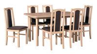 Jídelní sestava, stůl WENUS 2 P a židle BOSS 7