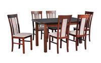 Jídelní sestava, stůl WENUS 5 S  a židle MILANO 8