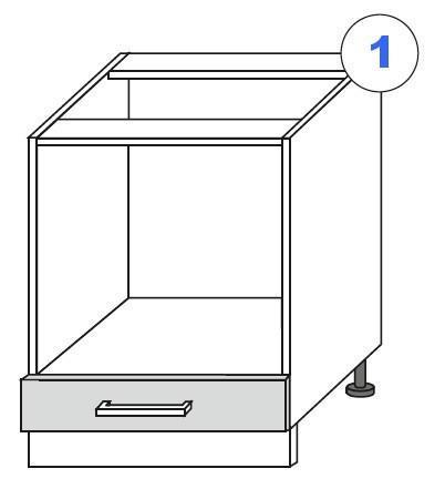 Kuchyňská linka SCASI skříňka spodní pro troubu a sporák 60D GAZ