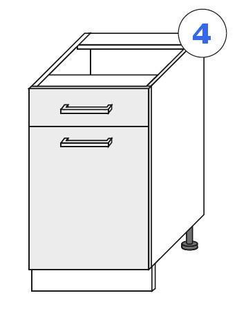 Kuchyňská linka SCASI skříňka spodní š.40 D 1S 1F (P/L)