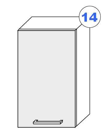 Kuchyňská linka SCASI skříňka vrchní š.30 G-72 1F (P/L)