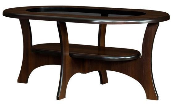 Konferenční stůl oválný se sklem S04-OR