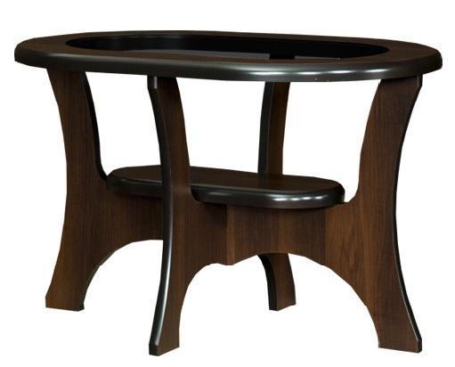 Konferenční stůl oválný se sklem S02-OR
